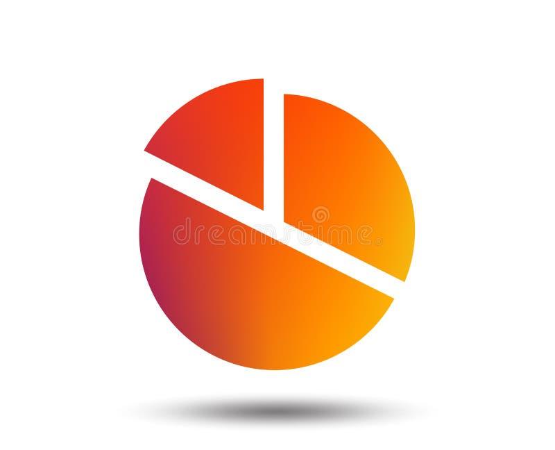 Ícone do sinal do gráfico da carta de torta Tecla do diagrama ilustração do vetor