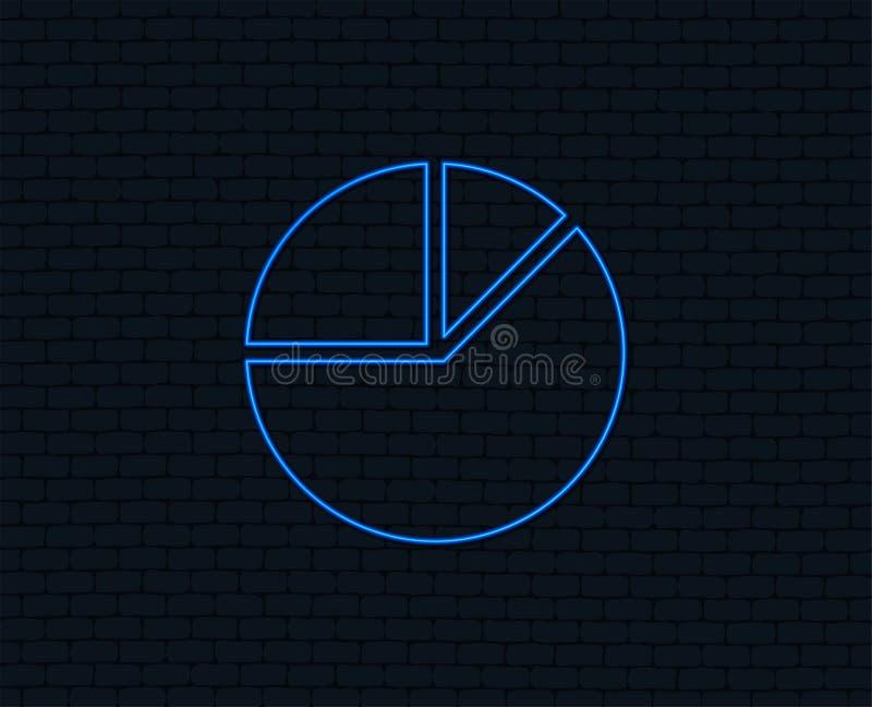 Ícone do sinal do gráfico da carta de torta Tecla do diagrama ilustração royalty free
