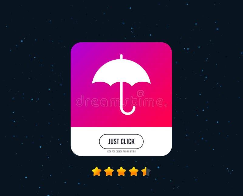 Ícone do sinal do guarda-chuva Símbolo da proteção de chuva Vetor ilustração royalty free