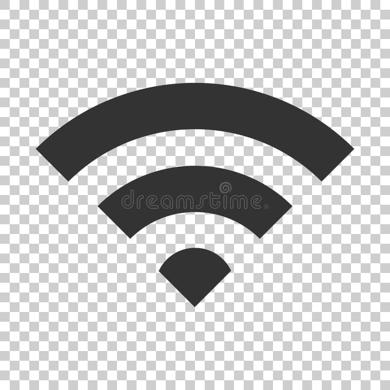 Ícone do sinal do Internet de Wifi no estilo liso Tecnologia sem fios de Wi-Fi ilustração royalty free
