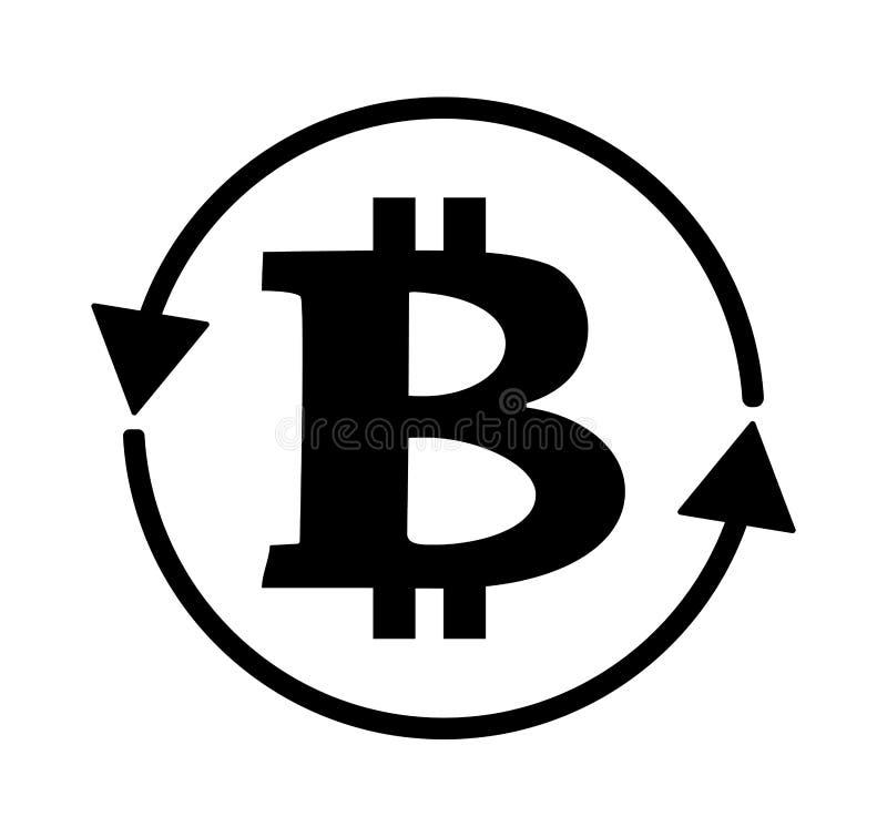 Ícone do sinal do logotipo de Bitcoin para o dinheiro do Internet Símbolo cripto da moeda da moeda para usar-se em projetos da We ilustração royalty free