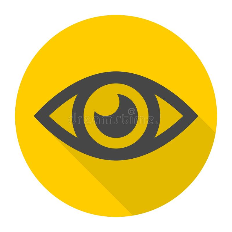 Ícone do sinal do olho ilustração royalty free