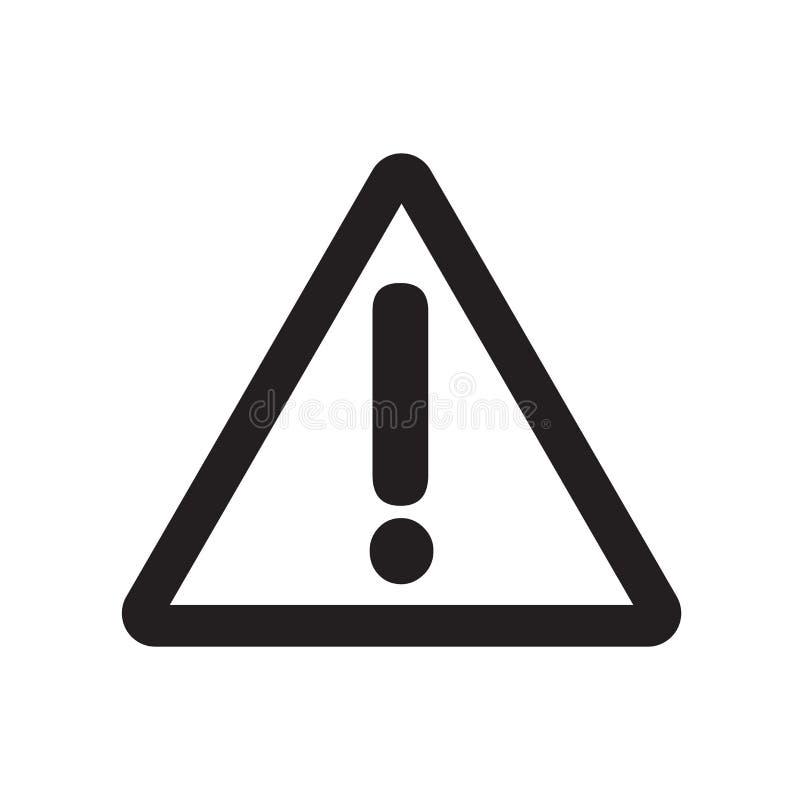 Ícone do sinal do perigo  ilustração do vetor
