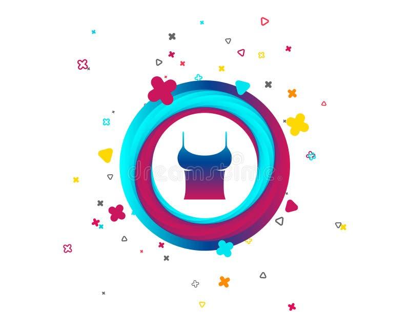 Ícone do sinal do t-shirt das mulheres Íntimos e sonos ilustração stock