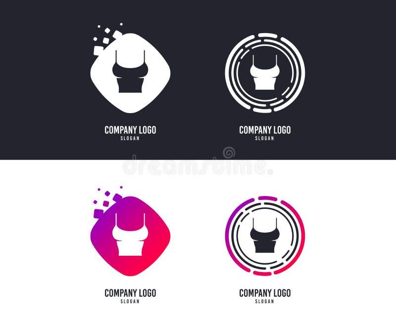 Ícone do sinal do t-shirt das mulheres Íntimos e sonos Vetor ilustração stock
