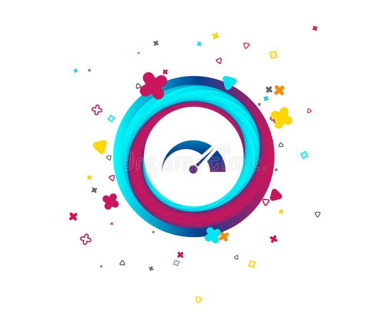 Ícone do sinal do tacômetro símbolo do Revolução-contador ilustração stock
