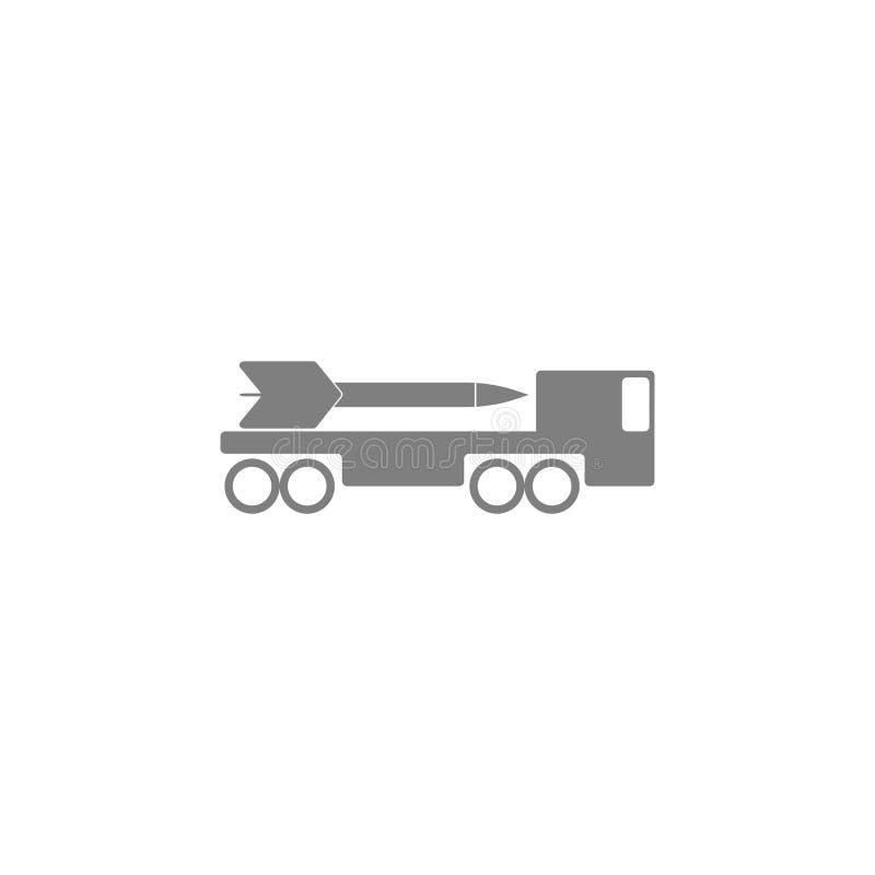 Ícone do sistema de mísseis ilustração stock