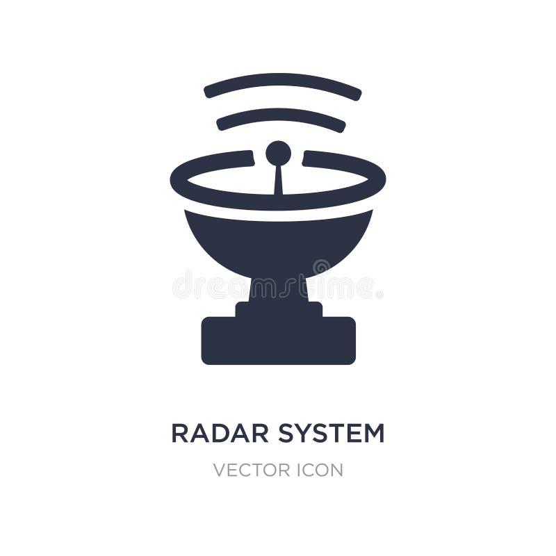 ícone do sistema do radar no fundo branco Ilustração simples do elemento do conceito da astronomia ilustração stock