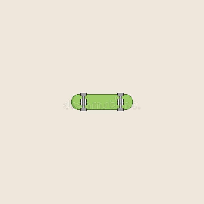 Ícone do skate isolado no fundo cinzento Símbolo do skate para o projeto do Web site, aplicação móvel, ui Curso editável Vetor ilustração do vetor