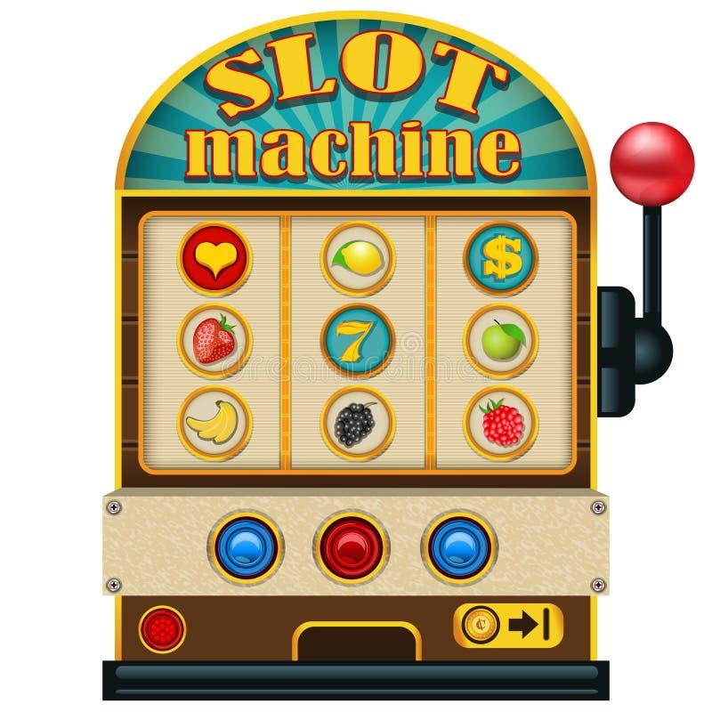 Ícone do slot machine ilustração do vetor