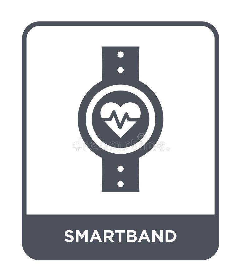ícone do smartband no estilo na moda do projeto ícone do smartband isolado no fundo branco plano simples e moderno do ícone do ve ilustração royalty free