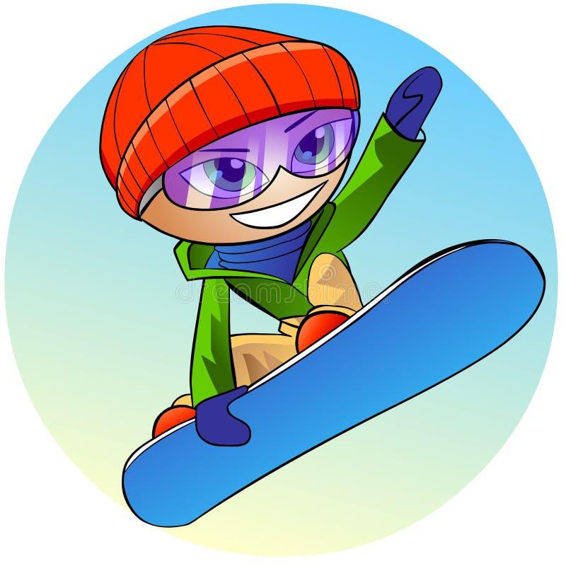 Ícone do Snowboarder ilustração do vetor