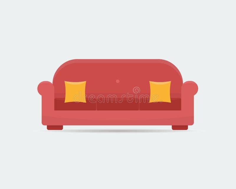 Ícone do sofá ilustração stock