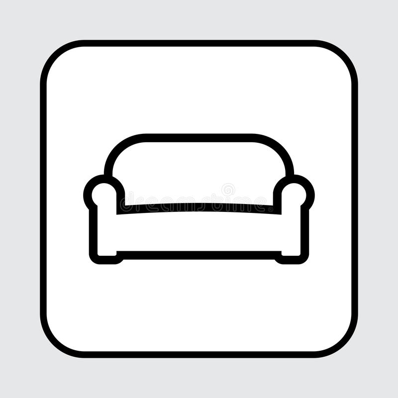Ícone do sofá, projeto do esboço Ilustração do vetor ilustração royalty free