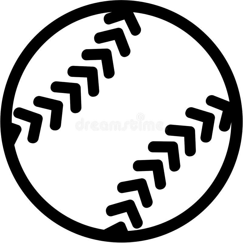 Ícone do softball ilustração stock
