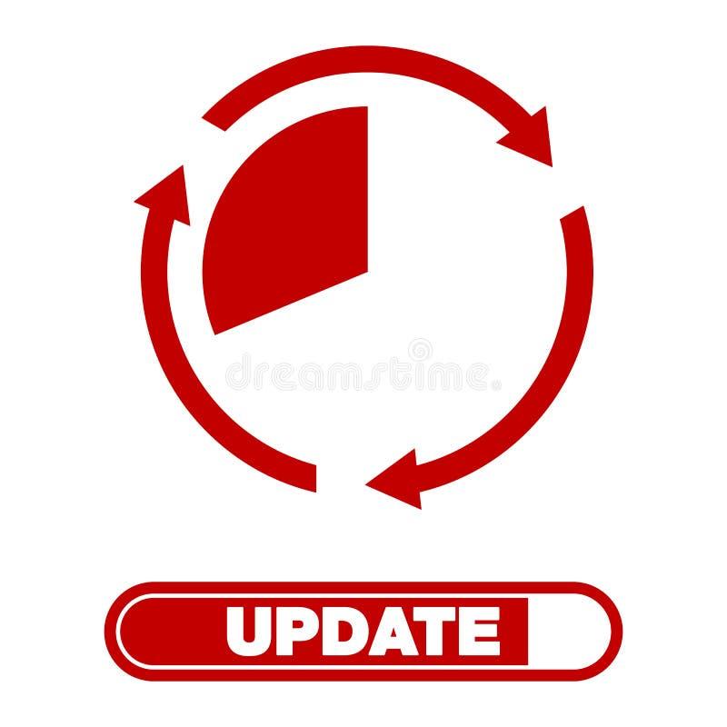 Ícone do software da atualização conceito do ícone do progresso da aplicação da atualização, para o gráfico e o design web ilustração royalty free