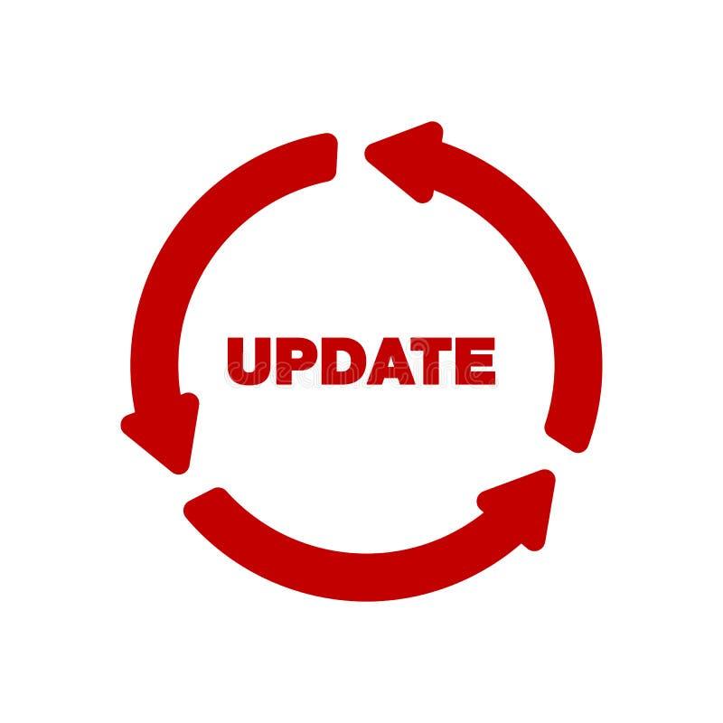 Ícone do software da atualização conceito do ícone do progresso da aplicação da atualização, para o gráfico e o design web ilustração stock