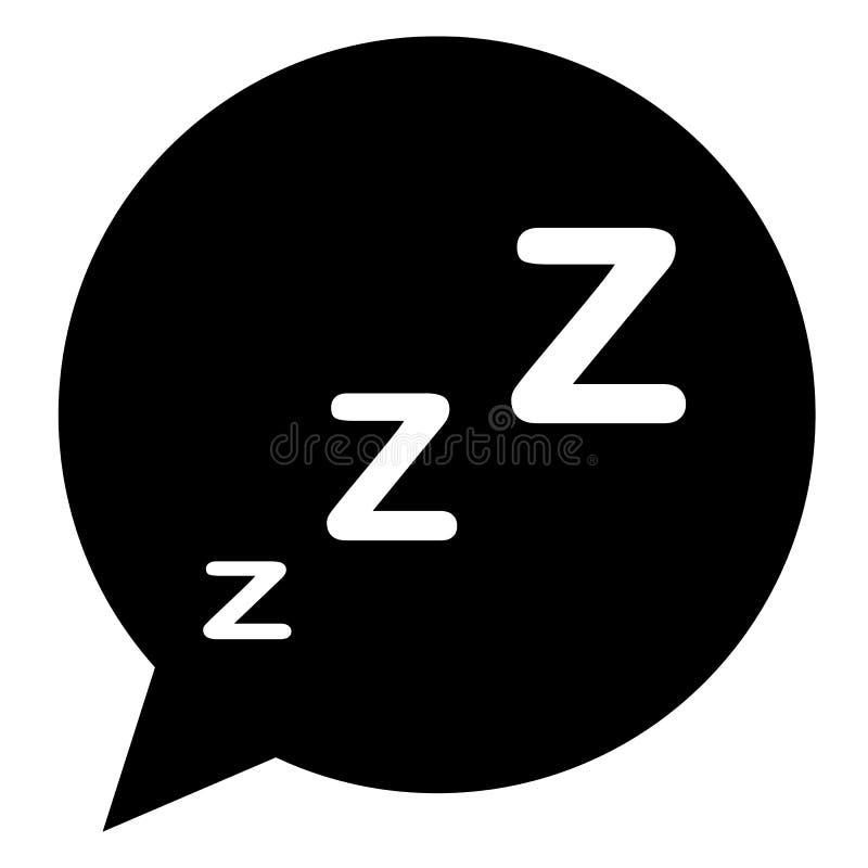 Ícone do sono no estilo liso na moda no fundo branco ilustração royalty free
