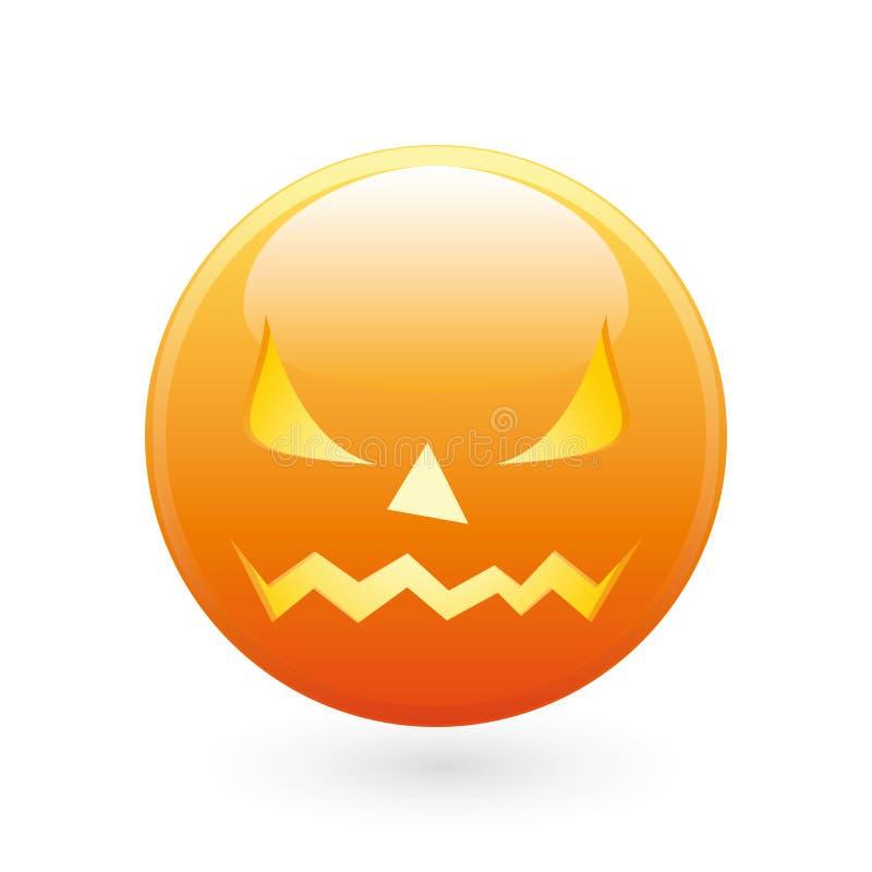 Ícone do sorriso de Halloween ilustração royalty free
