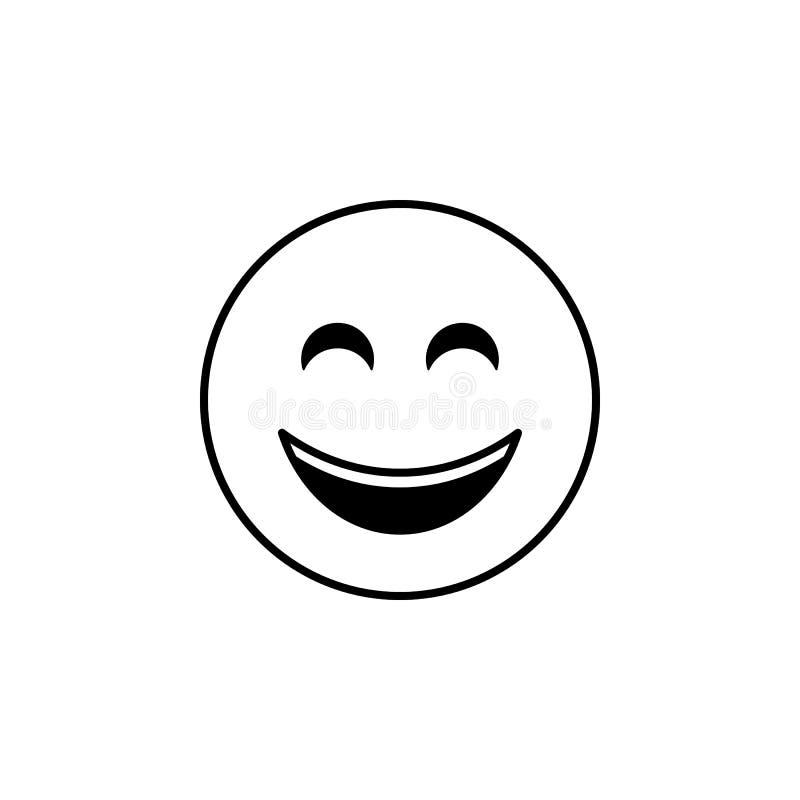 Ícone do sorriso Grupo detalhado de avatars de ícones das profissões Linha superior projeto gráfico da qualidade Um dos ícones da ilustração stock