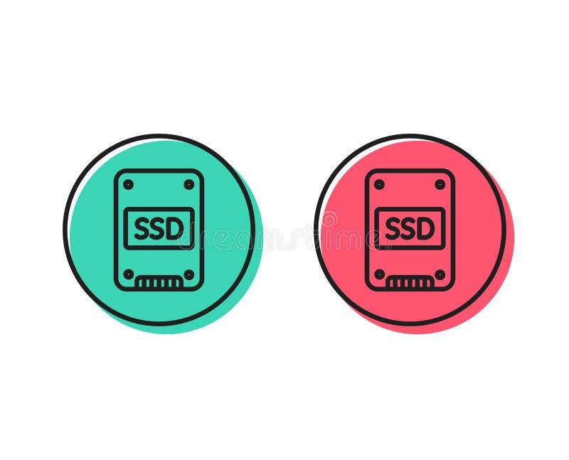 Ícone do SSD Sinal de circuito integrado da movimentação Vetor ilustração do vetor