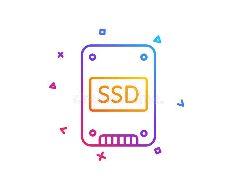 Ícone do SSD Sinal de circuito integrado da movimentação Vetor ilustração stock