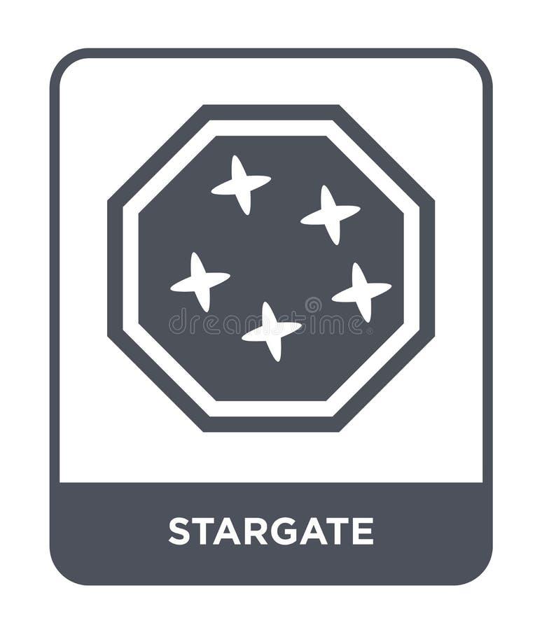 ícone do stargate no estilo na moda do projeto ícone do stargate isolado no fundo branco plano simples e moderno do ícone do veto ilustração royalty free