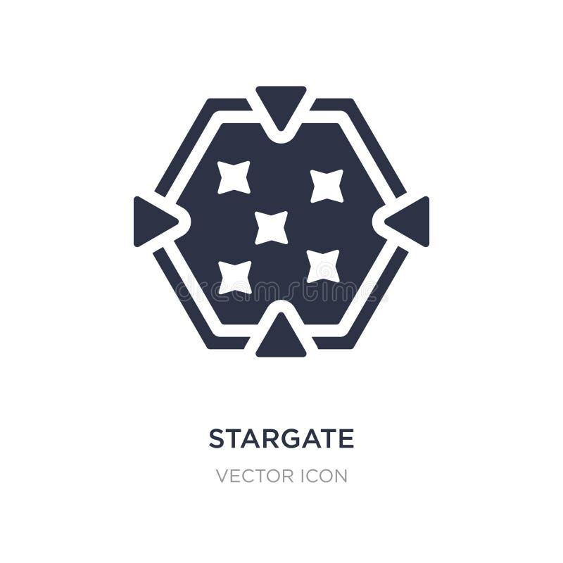 ícone do stargate no fundo branco Ilustração simples do elemento do conceito da astronomia ilustração royalty free