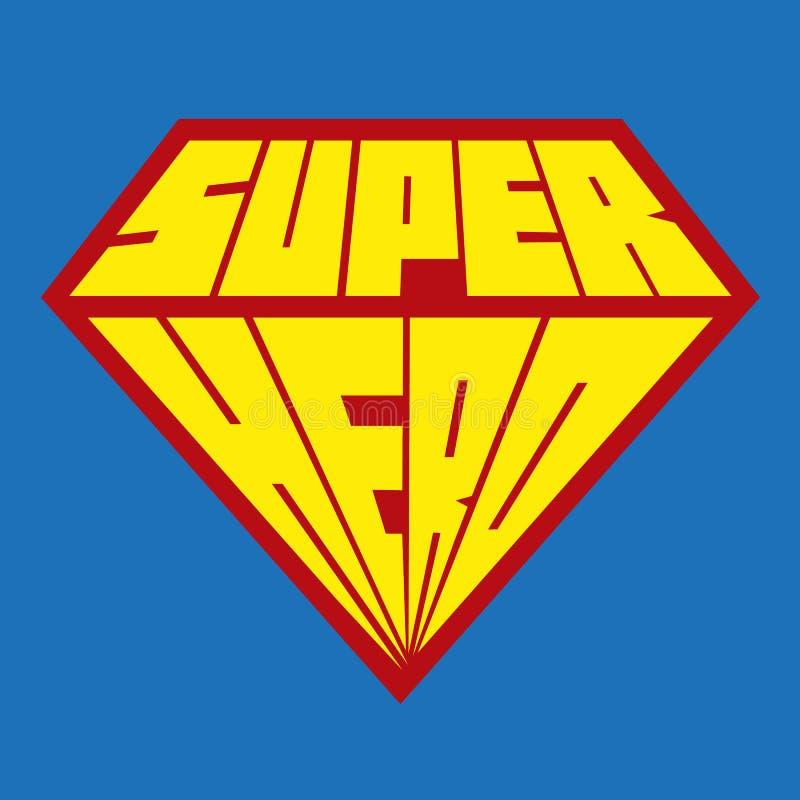 Ícone do super-herói - logotipo do super-herói ilustração do vetor