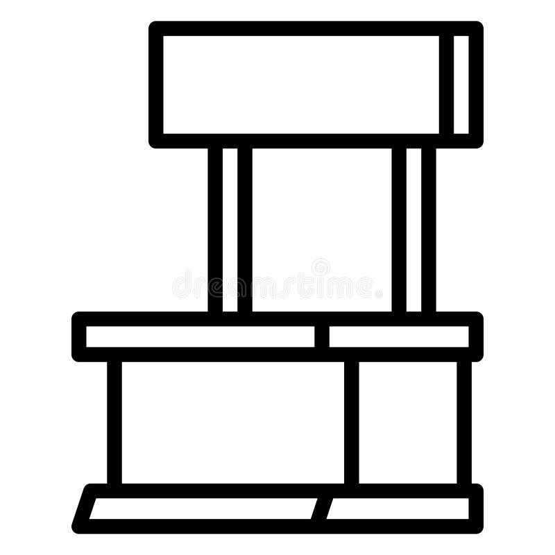Ícone do suporte da loja, estilo do esboço ilustração do vetor