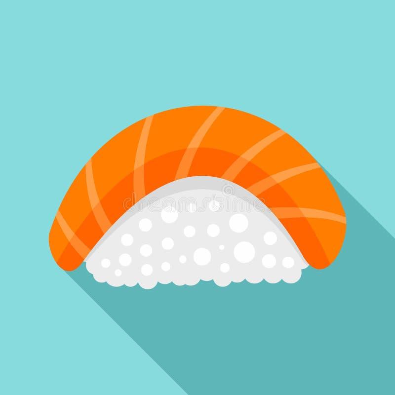 Ícone do sushi da causa, estilo liso ilustração do vetor