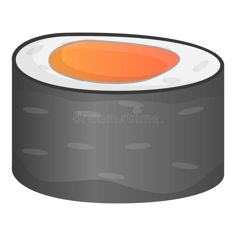 Ícone do sushi do marisco, estilo dos desenhos animados ilustração stock
