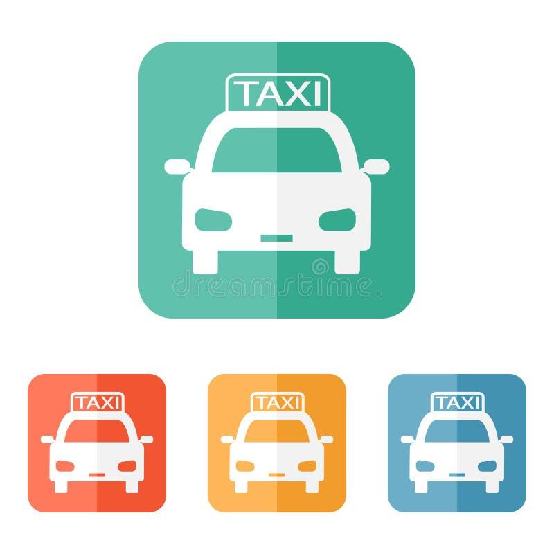 Ícone do táxi ilustração do vetor