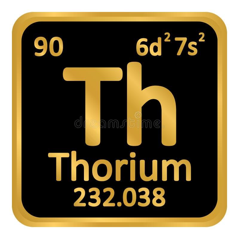 Ícone do tório do elemento de tabela periódica ilustração royalty free