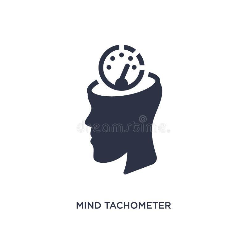ícone do tacômetro da mente no fundo branco Ilustração simples do elemento do conceito da produtividade ilustração do vetor