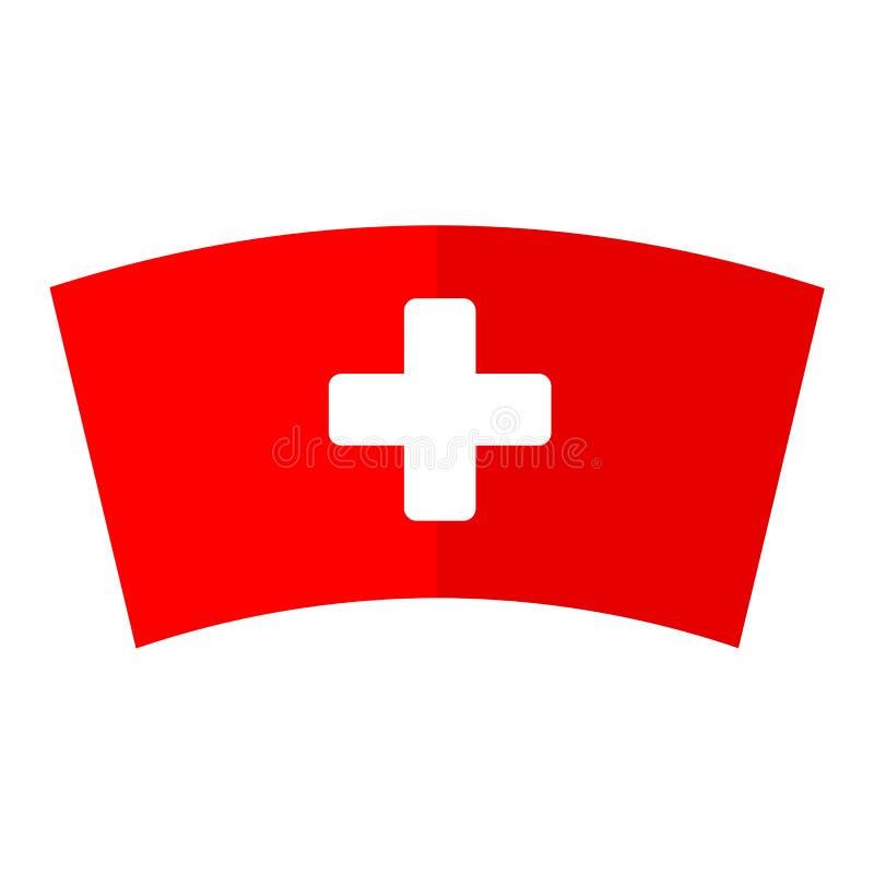 Ícone do tampão da enfermeira ilustração royalty free