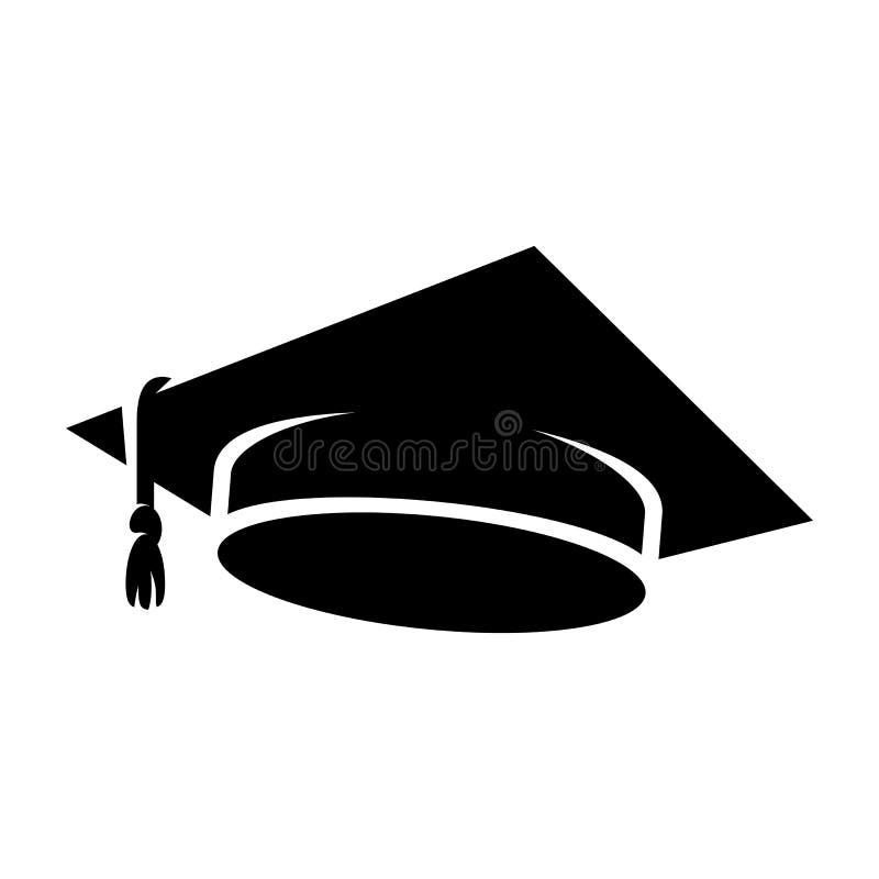Ícone do tampão da graduação ilustração royalty free