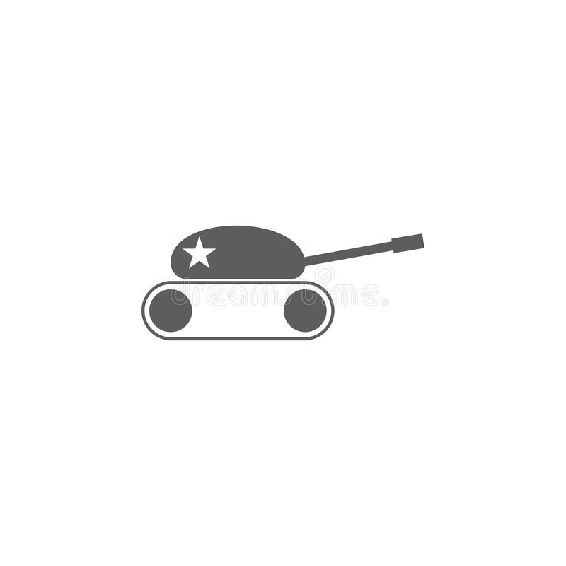 ícone do tanque do brinquedo Elemento dos brinquedos para apps móveis do conceito e da Web Ícone para o projeto do Web site e o d ilustração do vetor