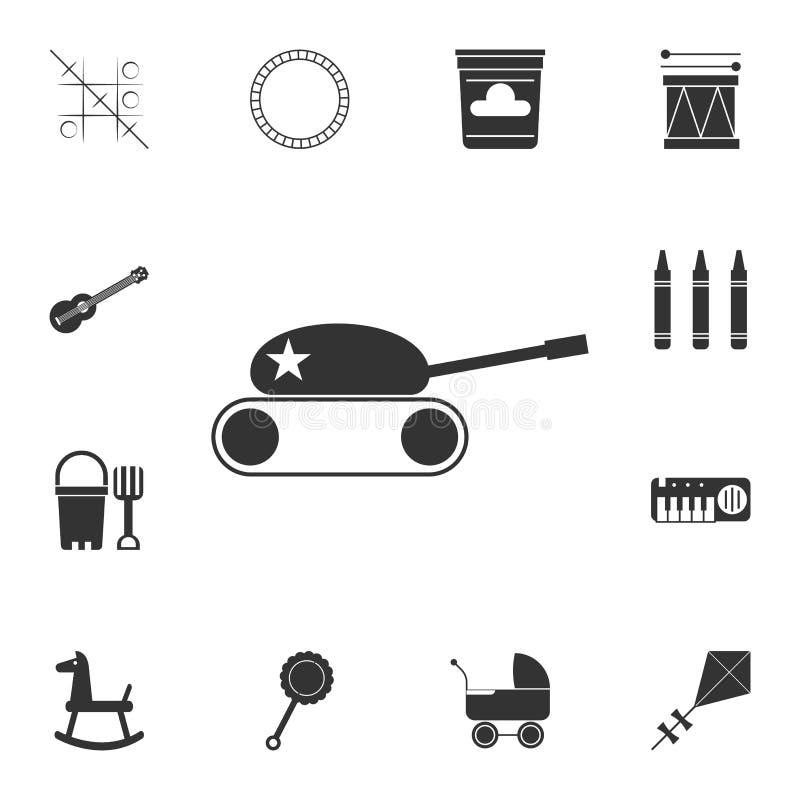 ícone do tanque do brinquedo Grupo detalhado de ícone dos brinquedos Projeto gráfico superior Um dos ícones da coleção para Web s ilustração royalty free