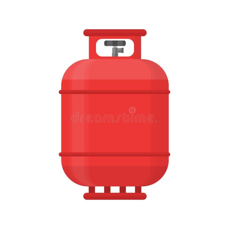 Ícone do tanque de gás Combustível lpg da pressão do cilindro do propano ilustração stock