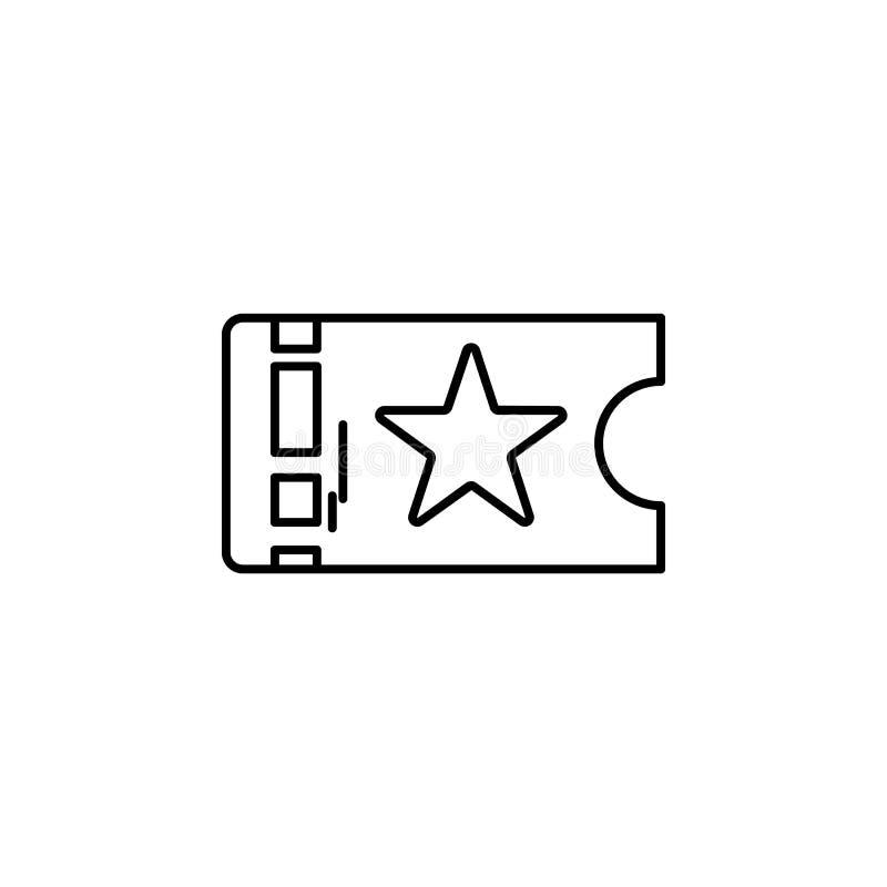 Ícone do teatro do bilhete Elemento da ilustração do teatro Ícone superior do projeto gráfico da qualidade Sinais e ícone dos sím ilustração stock