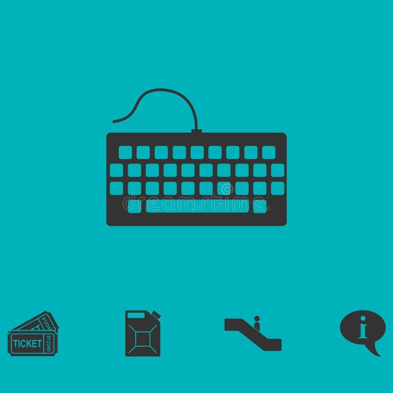 Ícone do teclado liso ilustração royalty free