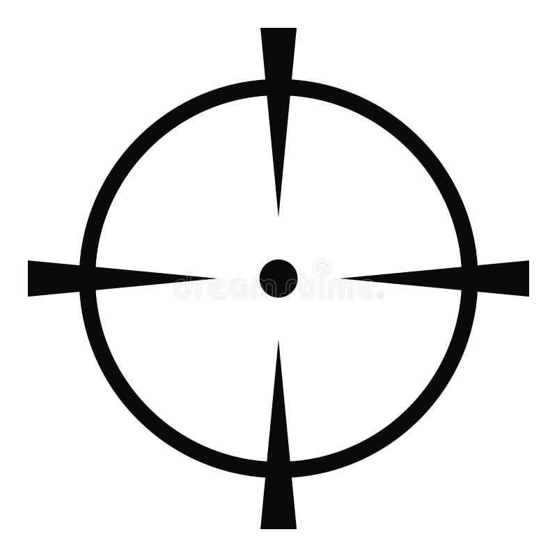 Ícone do tela de radar, estilo simples ilustração stock