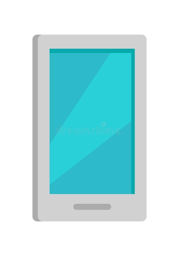 Ícone do telefone celular isolado no branco ilustração stock