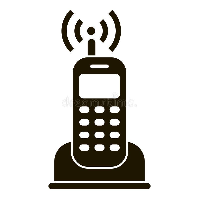 Ícone do telefone de rádio da casa, estilo simples ilustração royalty free