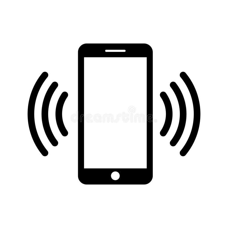 Ícone do telefone em preto e branco Símbolo do telefone Ilustração do vetor ilustração stock