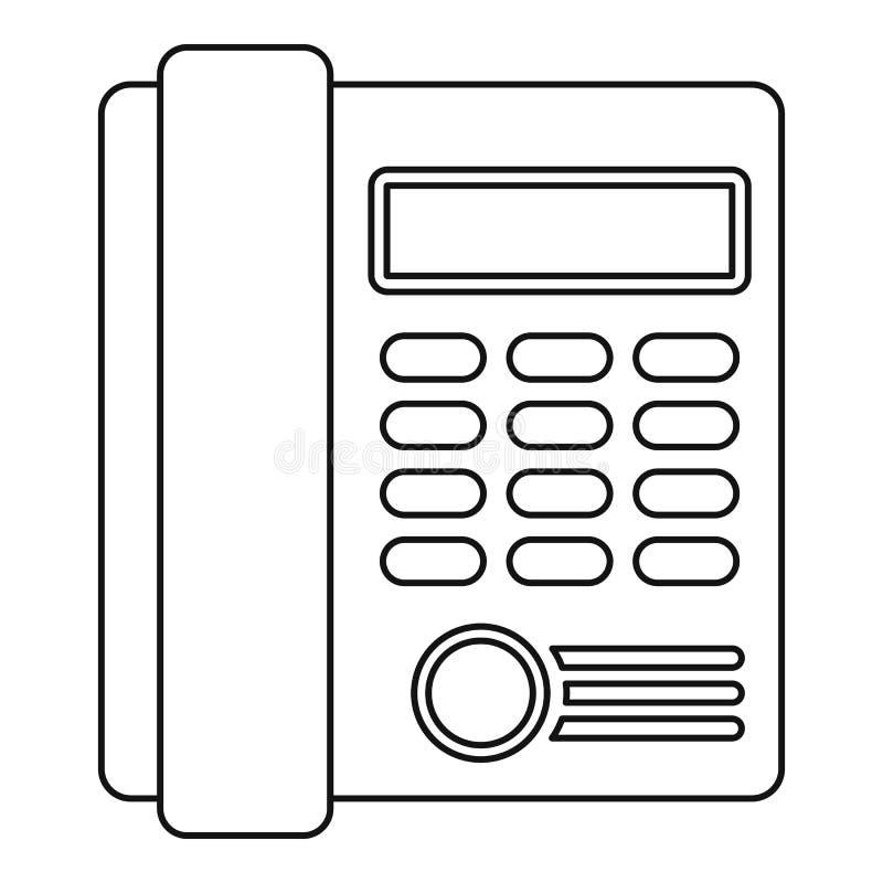 Ícone do telefone, estilo do esboço ilustração do vetor