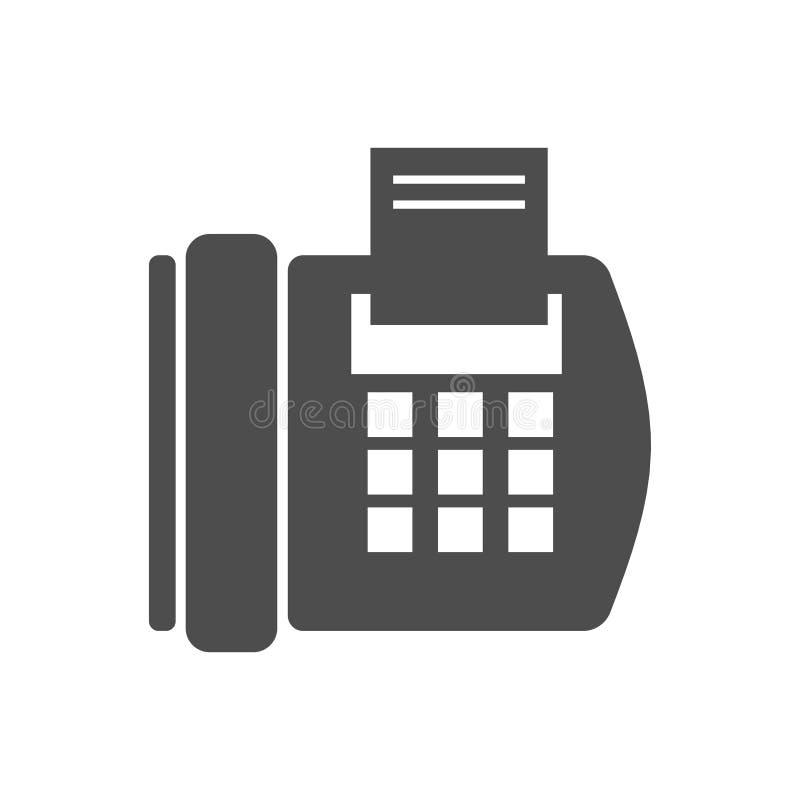 Ícone do telefone do fax ilustração do vetor