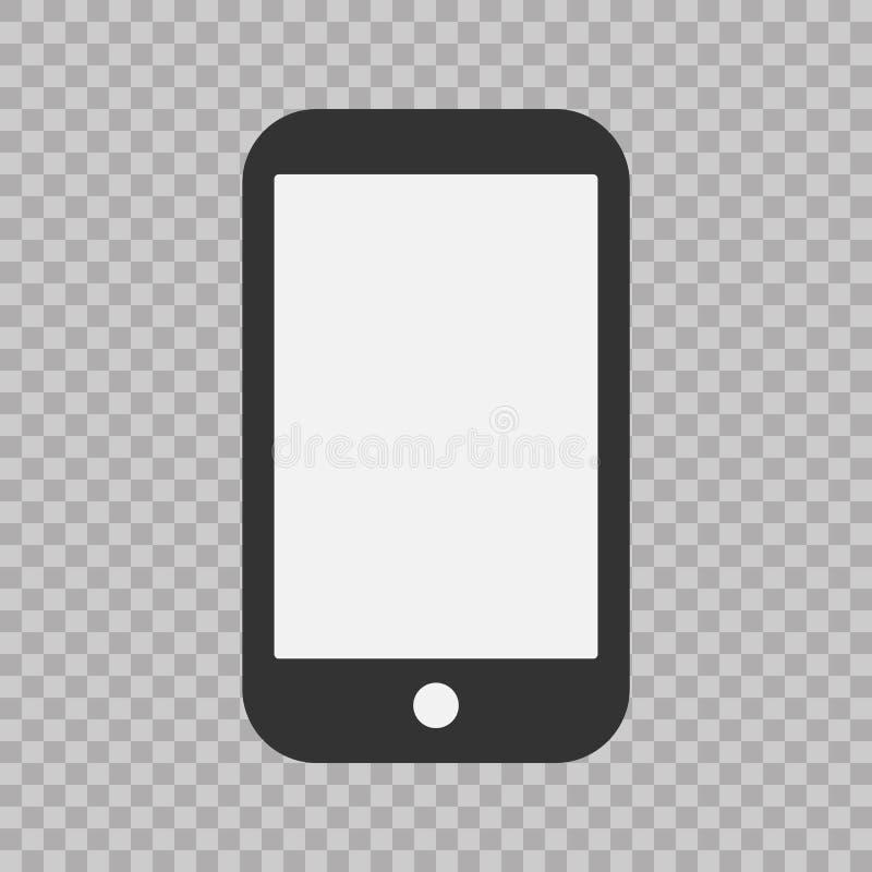 Ícone do telefone, ilustração do vetor Sinal liso simples moderno do dispositivo Conceito do computador do Internet Símbolo na mo ilustração royalty free