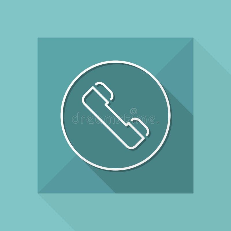 Ícone do telefone - série fina ilustração do vetor
